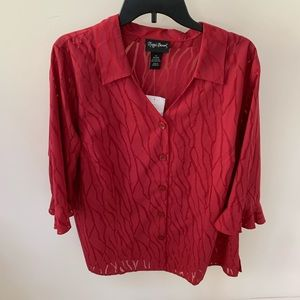 NWT Maggie Barnes Plus Sz 1X(18/20W) red on red